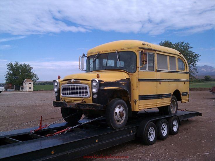 Classic 4X4 Trucks For Sale >> B Series Short Bus 4x4 - Binder Planet Forums | Short bus, Old school bus, Busses