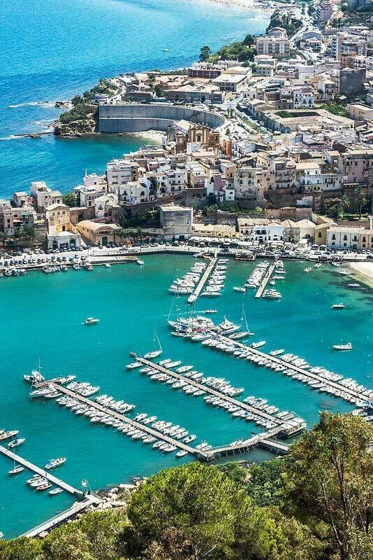 Castellammare del Golfo, Sicily  This is where my father in laws family is from