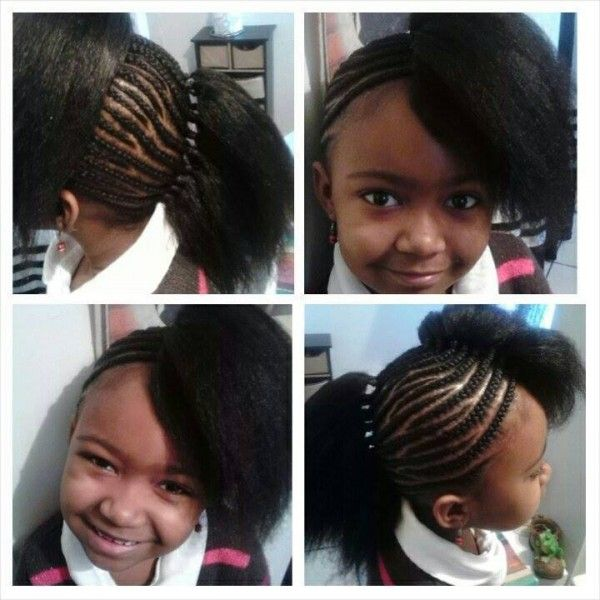 Zebra Braids Shared By Alicia Black Hair Information Community Cute Weave Hairstyles Hair Styles Kids Hairstyles