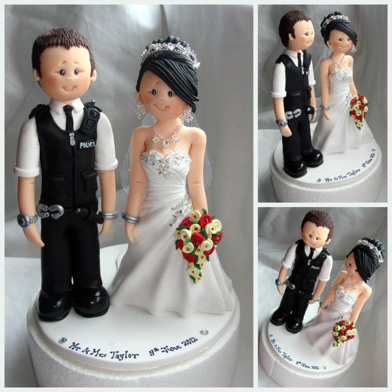 Items Similar To Bride Handcuffed With Police Groom Wedding Cake Topper Custom Made And UK British Policeman On Etsy