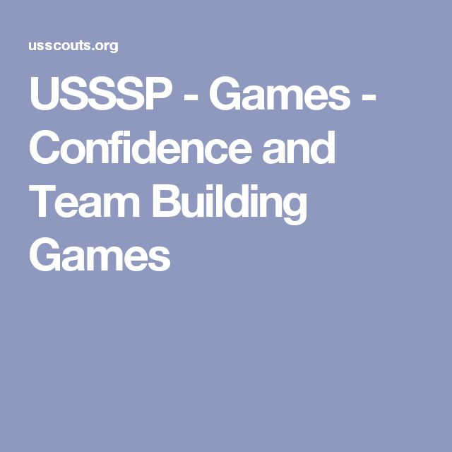 USSSP - Games - Confidence and Team Building Games