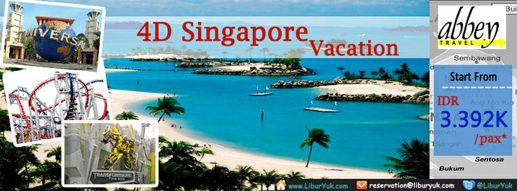 """Bingung liburan mau kemana?yuk liburan ke Singapore aja.kini telah tersedia paket 4 Hari Singapore Vacation.booking sekarang juga!  Dapatkan Special Paket tersebut dari LiburYuk.com di http://liburyuk.com/promotional-package/book/603011857/4D/3N-#Singapore-#Vacation atau kontak team reservasi kami di reservation@Abbey.Travel  Silakan """"SHARE"""" dan """"LIKE"""" Page #LiburYuk untuk mendapatkan berbagai penawaran menarik lainnya....!! #abbeytravel #jalan2 #holiday"""