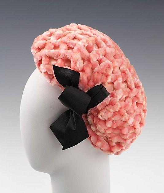 1960, France - Silk hat by Cristobal Balenciaga
