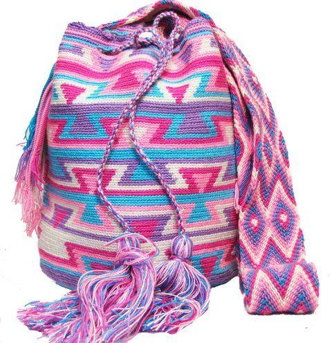 Pink Boho Mochila Bag - comprar online