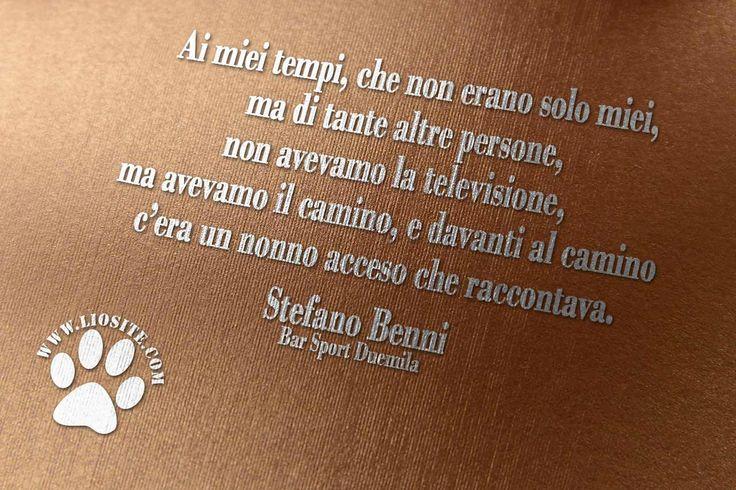 """Anche ai miei .... :) per questo ho sempre descritto il mio sito come un salotto in cui accomodarsi come amici vicino al camino acceso e bere insieme una cioccolata ascoltando poesie e leggendo.  """"Ai miei tempi, che non erano solo miei, ma di tante altre persone, non avevamo la televisione, ma avevamo il camino, e davanti al camino c'era un nonno acceso che raccontava."""" Stefano Benni - Bar Sport Duemila  #stefanobenni, #nonno, #vocenarrante, #camino, #italiano,"""