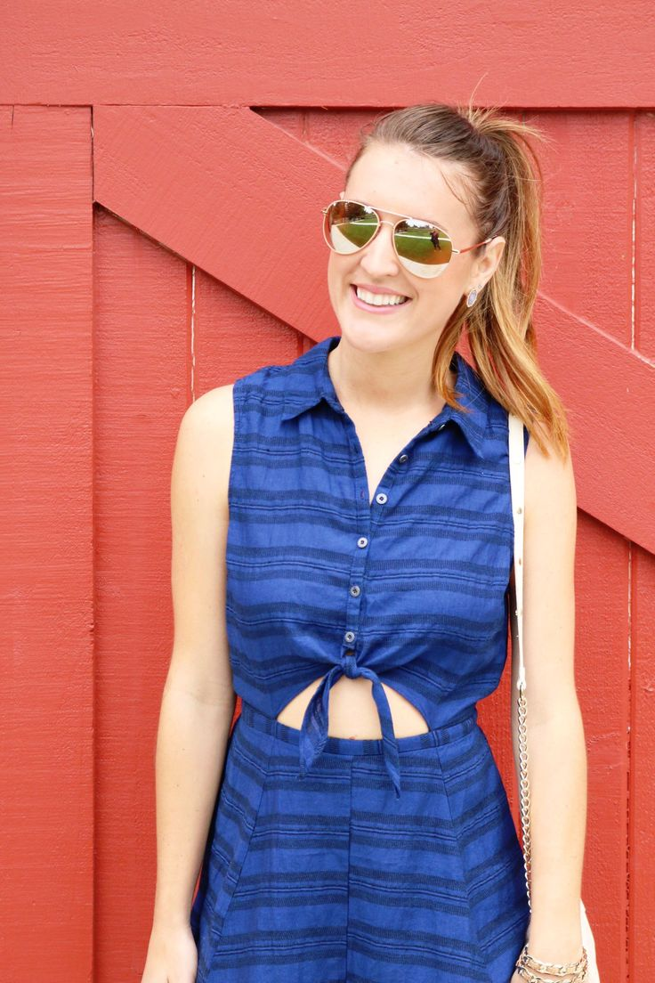 Tie Front Romper   Rompers for every personality   It's All Chic To Me