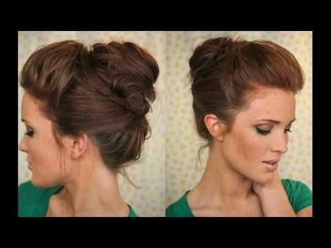 Bouffant Bun Is Best Party Hair Style - YouTube
