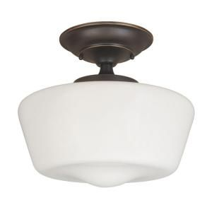 World Imports Luray 1-Light Oil-Rubbed Bronze Semi-Flush Mount-WI900788 at The Home Depot