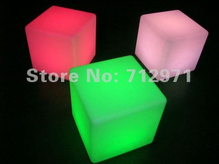Led cube de lumière avec RGB led de lumière 40 cm cubes chaise et de table