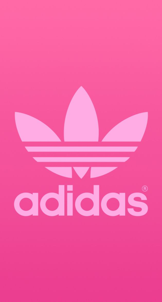 アディダスオリジナルスのピンクロゴ iPhone壁紙 Wallpaper Backgrounds iPhone6/6S and Plus  Adidas Originals Logo Pink iPhone Wallpaper
