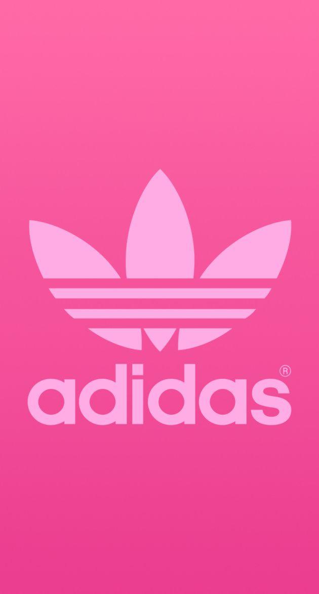 アディダスオリジナルスのピンクロゴ iPhone壁紙 Wallpaper Backgrounds iPhone6/6S and Plus  Adidas Originals Logo Pink iPhone Wallpaper
