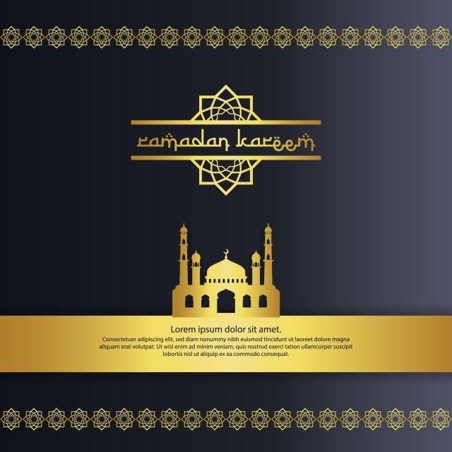 مسجد مع تصميم عنصر اللون الذهبي لرمضان كريم دعوة تحية إسلامية أو خلفية بطاقة التوضيح النواقل أيقونات ملونة أيقونات الخلفية أيقونات البطاقة Png والمتجهات للتح Ramadan Kareem Ramadan Kareem Vector Graphic