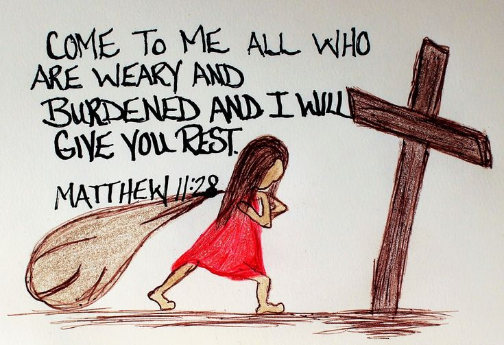 """Come to me all who are weary and burdened and I Will give you rest."" Matthew 11:28. (Scripture Doodle Art of Encouragement)"