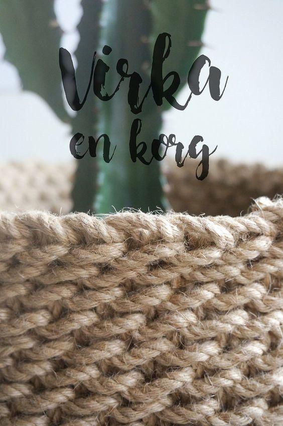 Sarah MacFie blogg - DIY - Virka en korg
