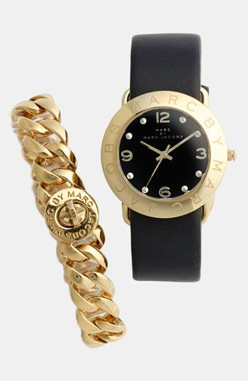 MARC BY MARC JACOBS 'Amy' Leather Strap Watch   Nordstrom