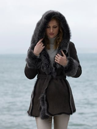 Celtic Sheepskin Toscana Hooded Jacket <3