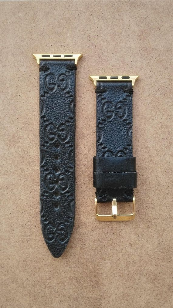 1c8bef02f9c Authentic Re-purposed Handmade GUCCI Apple Watch Band Series 1 2 3 - 38 mm