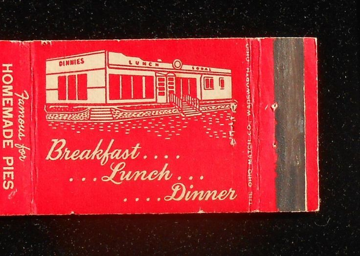 1940s Matchbook Dinnie's Drive in Restaurant National Road Route 40 Richmond In | eBay