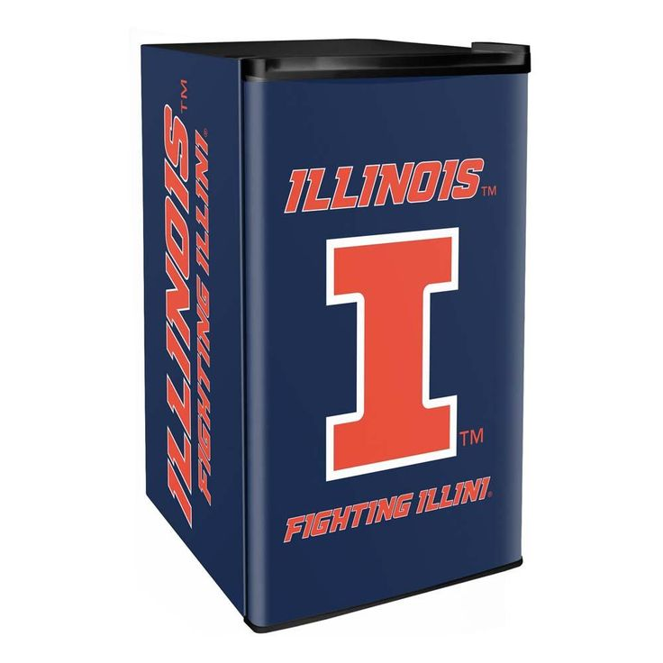 Illinois Fighting Illini 3.2 Cubic Feet Mini-Fridge