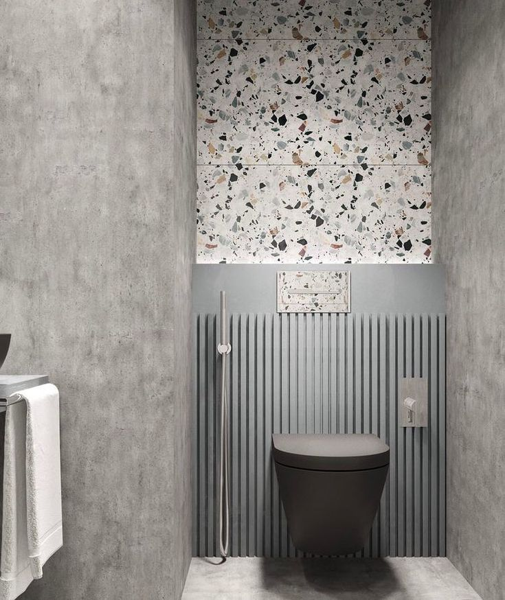 Bathroom Makeover With Terrazzo Walls Terrazzo Modern Style Bathroom Bathroom Interior Design