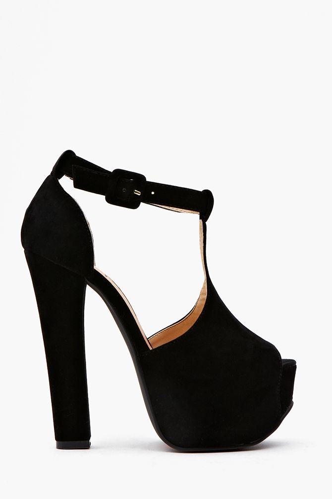 Hathaway Platform - Black (Nastygal.com)... Vogue and other fashion sources are saying a more lady-like heel is in for Spring, but it will be hard to quite a platform this cool