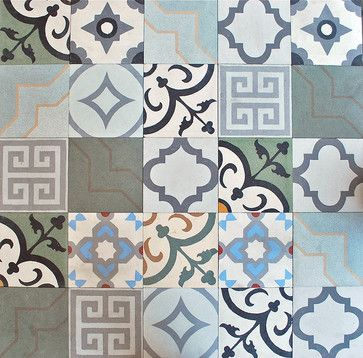 Arketype.us | When arranged together concrete tile can creative a beautiful wall accent, or go timeless and use one pattern as your flooring.