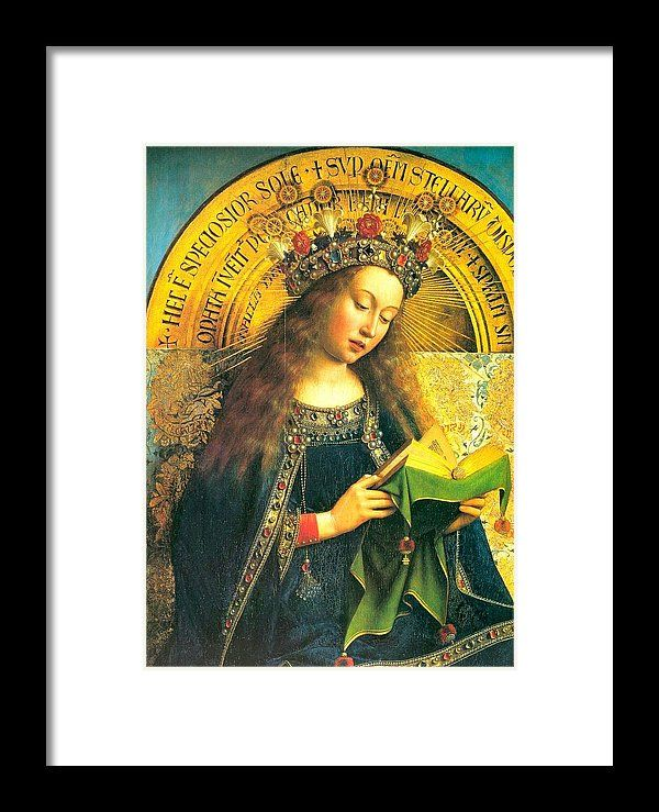The Ghent Altarpiece Framed Print featuring the painting The Ghent Altarpiece The Adoration Of The Mystic Lamb 2 by Van Eyck