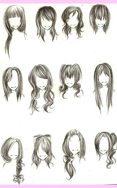 Types Of Hairstyles 114 Best Anime Hair Guides Images On Pinterest  Drawing Ideas