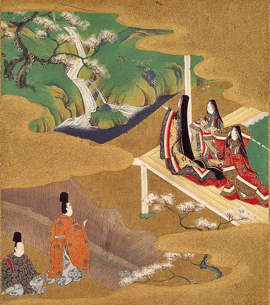 Illustration of the Genji Monogatari, The Tale of Genji (ch.5–Wakamurasaki). Traditionally credited to Tosa Mitsuoki (1617–1691). Yamato-e art