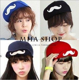 Hot Sale New Fashion Caps,Harajuku London Boy Black Gratiffi Men Women Snapback Baseball Hip-hop B-boy Sport Cheap mustache Hat US $9.50