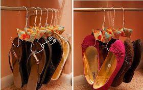 Cabides para sapatos ou sandálias
