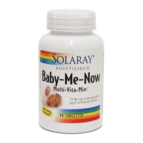 Baby Me Now de Solaray es un complemento alimenticio multinutrientes formulado para mujeres embarazadas o en periodo de lactancia.