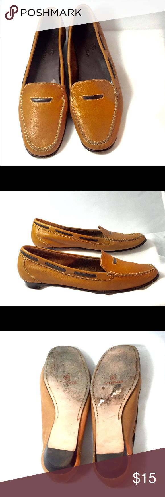 Cole Haan tan loafers Sz 8.5 Consignment item. Slight wear on the soles. Very comfy!! Cole Haan Shoes Flats & Loafers