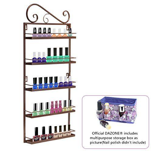5 Tier Black Left Nail Polish Bottles Display Shelf Rack Nails Care Organizer UK