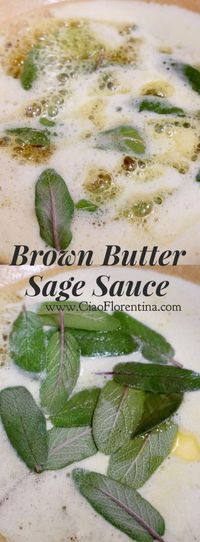 Brown Butter Sage Sauce Recipe   CiaoFlorentina.com @CiaoFlorentina