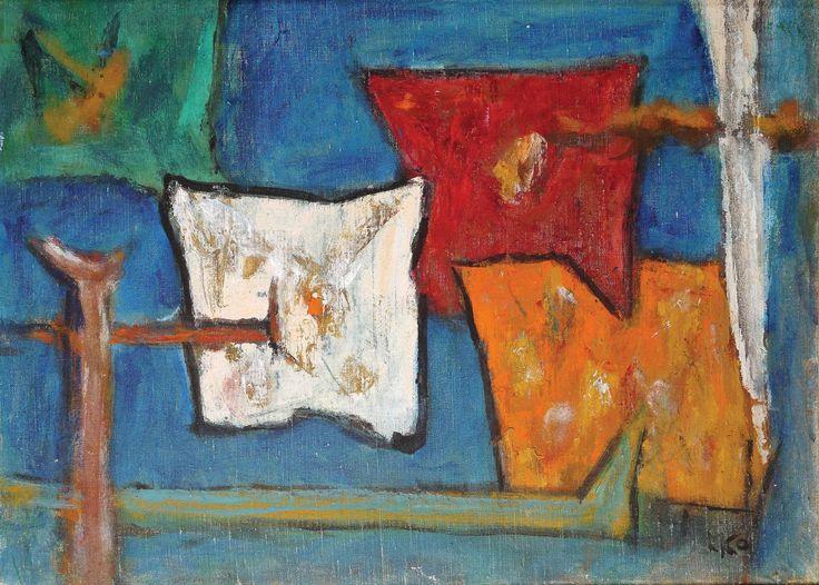 Marcel Janco - Skład, olej na płótnie