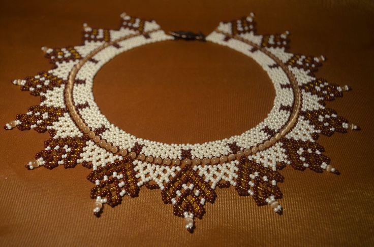 """Колье из бисера """"Осеннее"""".  Бисероплетение.  Мастер класс / Necklaces of..."""