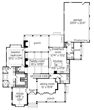 Southern Living Shook Hill House And Floor Plans