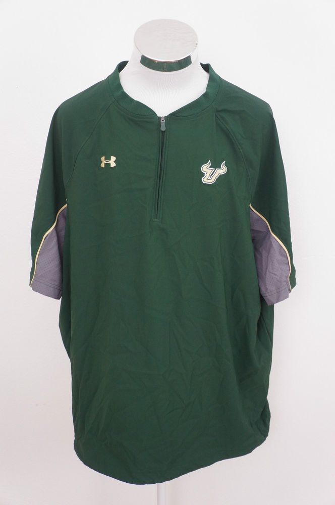 UNDER ARMOUR Loose Couple Lache 1/4 Zip Front USF South Florida Bulls 2XL XXL #UnderArmour #SouthFloridaBulls