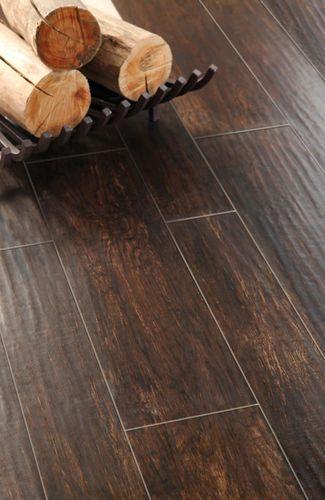 Porcelain stoneware floor tile: wood look NATURA : TABACCO Ilva