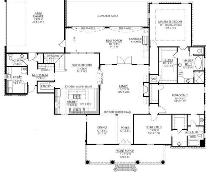 1 Floor Plan Mi Casita Pinterest Excercise Bath And