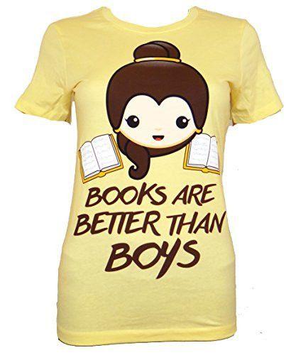 Beauty And The Beast Belle Loves Books Emoji Juniors T-shirt