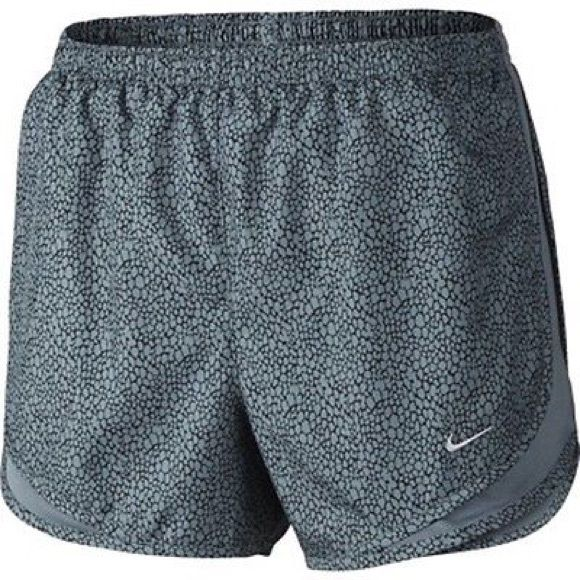 NWT - NIKE DRI-FIT SHORTS Grey and black women's running shorts. Dri-fit fabric and built-in brief. Nike Shorts