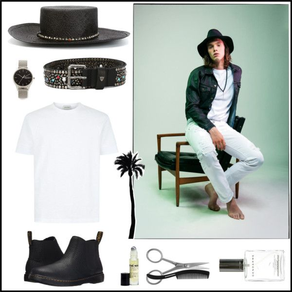 HTC Los Angeles Man look by htc-los-angeles on Polyvore featuring Dr. Martens, Uniform Wares, Tweezerman, Le Labo, Hollywood Trading Company, Dot & Bo, men's fashion and menswear