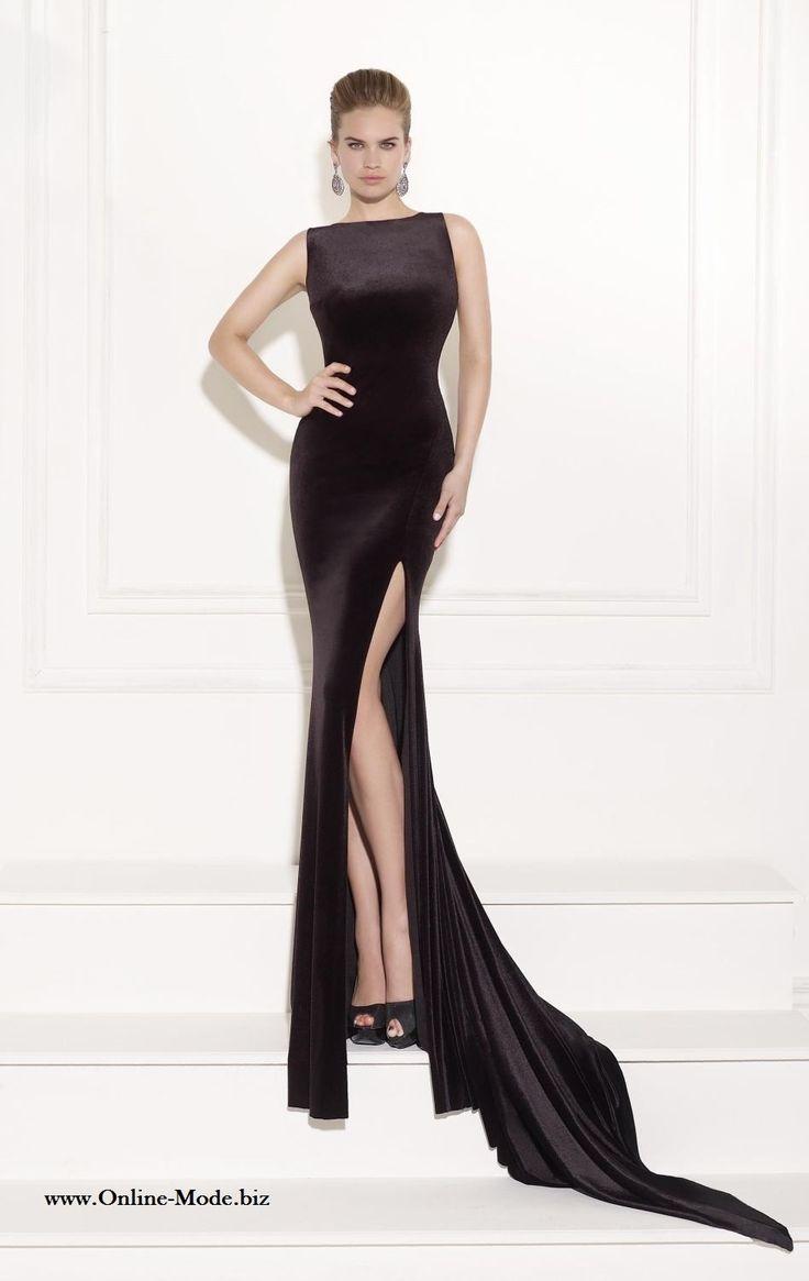 Elegantes Langes Meerjungfrau Abendkleid in Schwarz