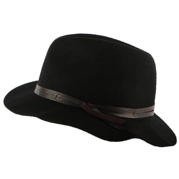 Chapeau fedora en feutre noir Obie par Bailey #mode #femme #bonplan #shopping