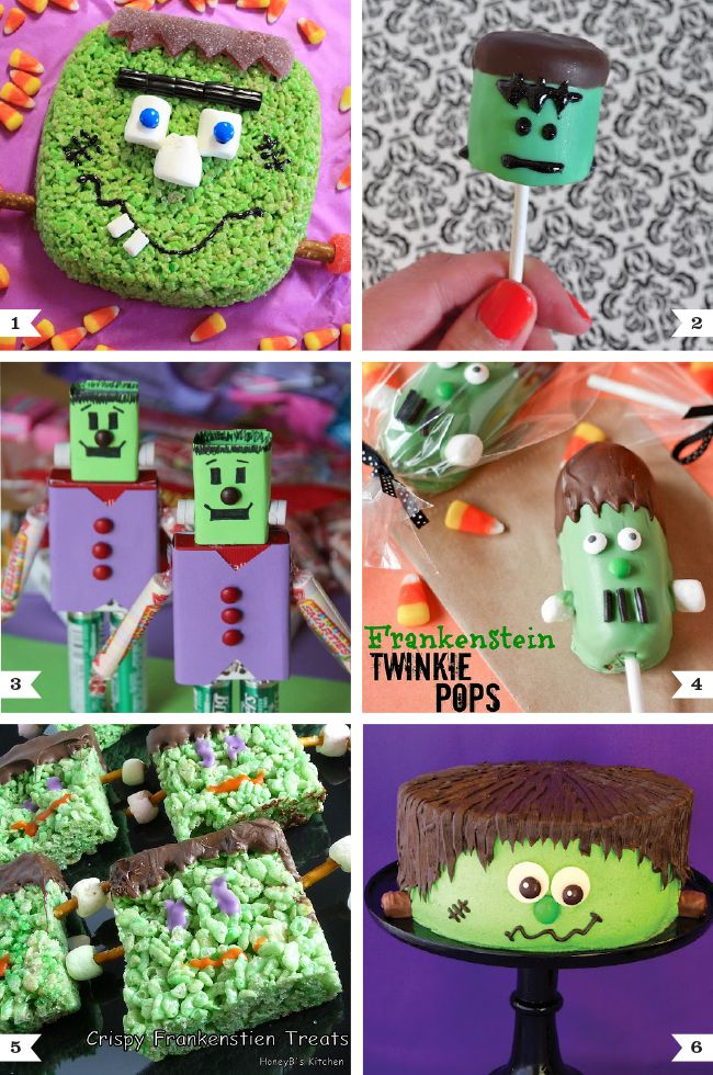 Frankenstein themed halloween treats too cute cakes and for Easy halloween treats for work party