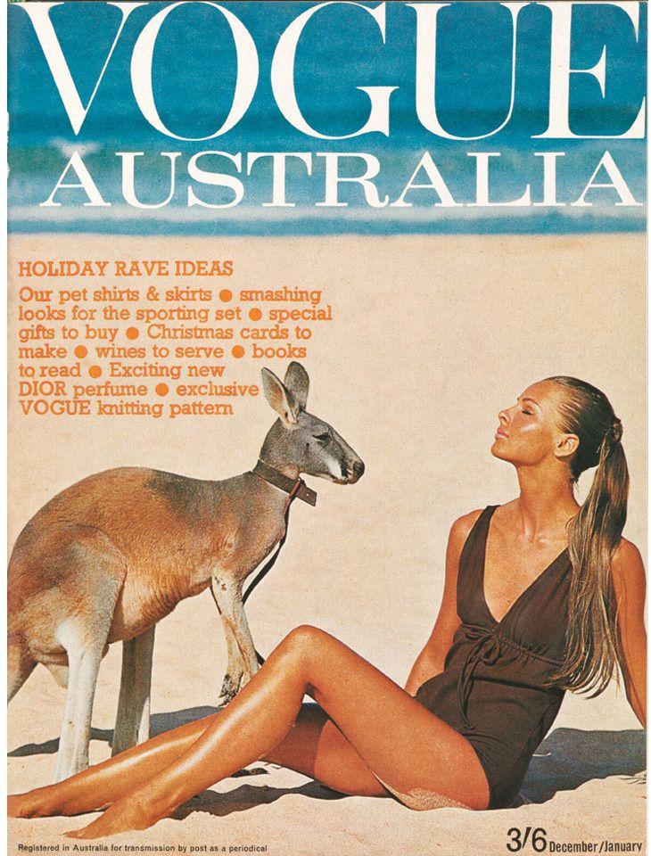 Happy Australia Day! Jan 26th! //  Vogue Australia December/January 1964-65.  Cover by Helmut Newton.