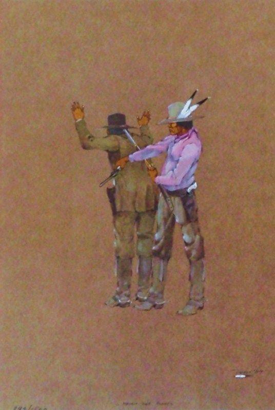 Never Get Away by Jerome Richard Tiger(Creek/Seminole). | Native Arts of America, Inc.