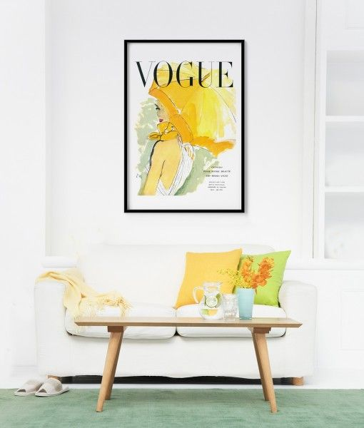 Yellow umbrella Vogue cover Poster, available in different sizes